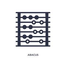Abacus Icon On White Backgroun...