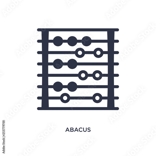 abacus icon on white background Canvas Print