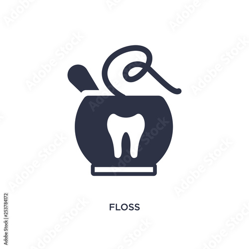 Photo  floss icon on white background