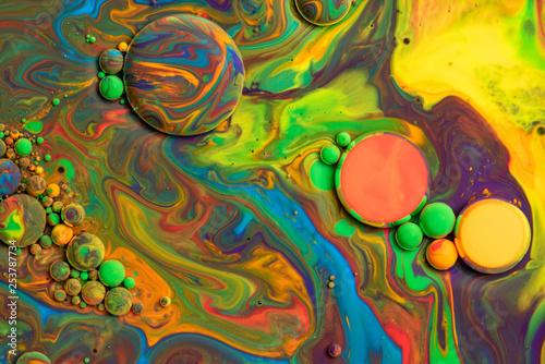 Fotografie, Obraz  Bright colorful acrylic paint