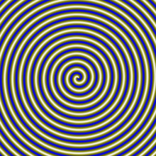 Spiral Pipe In Gold And Blue / An Abstract Fractal Image With A Coiled Tube Design In Gold And Blue.
