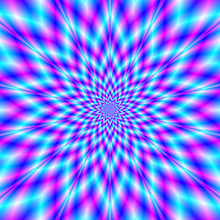 Fuzzy Star In Blue And Pink / ...