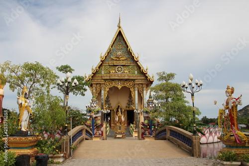 Foto  asiatischer Tempel in Thailand
