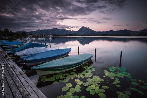 Foto auf AluDibond Lavendel sunrise at the hopfensee