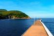 Pier in Armintza on sunny day