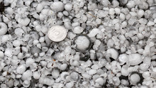 Hail Sized With A Larger Coin,...