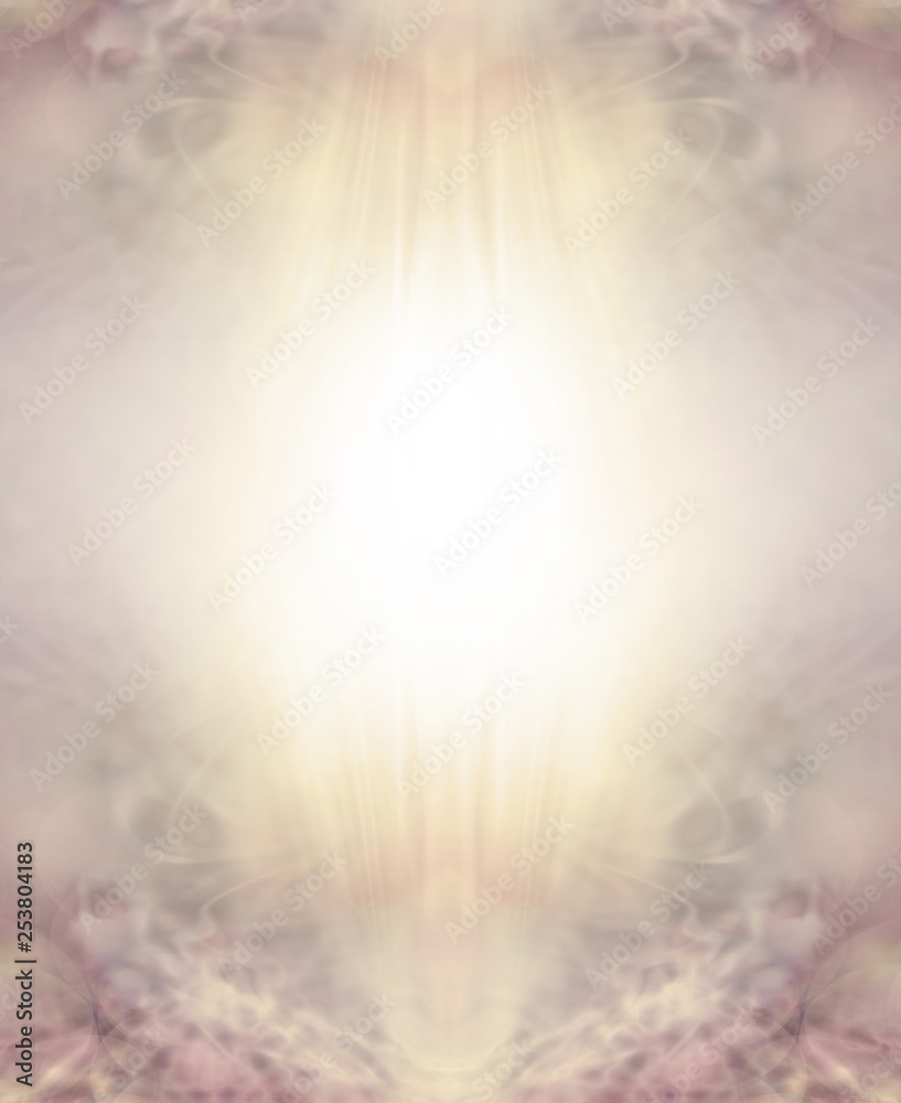 Fototapety, obrazy: Easter Religious Golden Sepia Ethereal Background - warm pale spiritual sepia border with a bright yellow white centre for your message and delicate filigree lacy details at the top and bottom