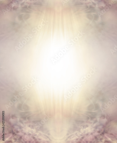 Easter Religious Golden Sepia Ethereal Background - warm pale spiritual sepia border with a bright yellow white centre for your message and delicate filigree lacy details at the top and bottom Fototapete