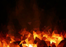 Abstract Fiery Polygonal Backg...
