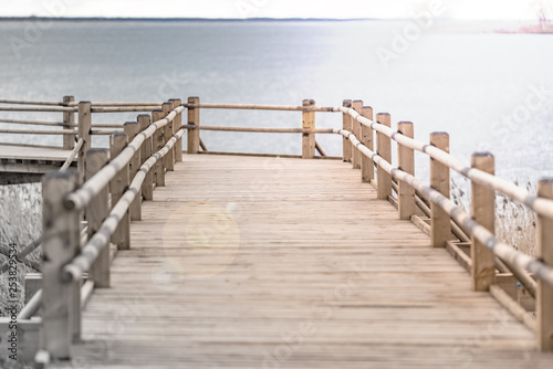 Fototapety, obrazy: Wooden platform by the lake