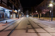 Tram tracks at the streets of Vitoria- Gasteiz, Basque Country, Spain