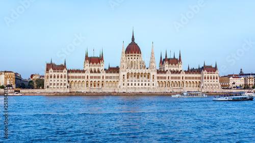 Fotografia  Hungarian Parliament Building at sunset, Budapest, Hungary