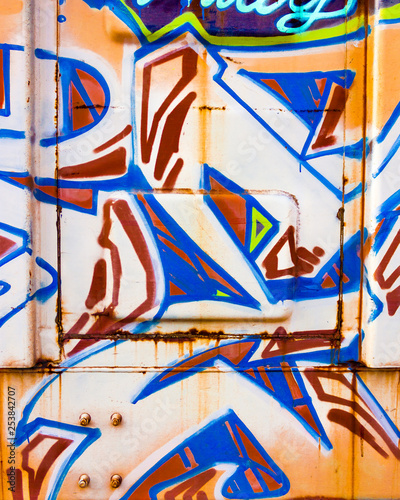 Graffiti on boxcar