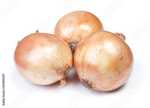 Fotografering  Heap of flawed natural onions