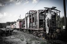 Abandoned Railroad Cars