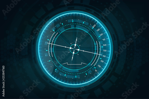 Futuristic gadget in HUD style Canvas Print