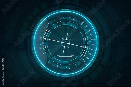 Photo Futuristic gadget in HUD style