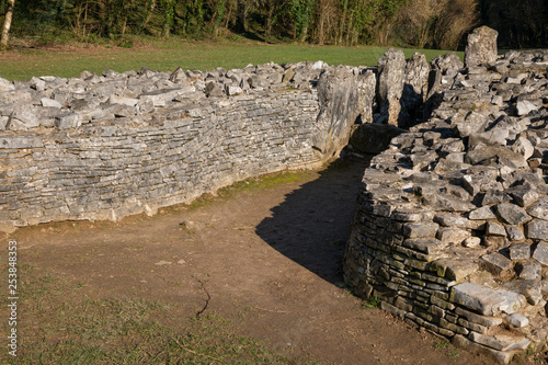 Canvas Print Parc le Breos burial Chamber, Gower Peninsular, Wales