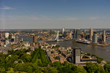 Netherlands, Rotterdam, cityscape and skyline of the city with erasmus bridge