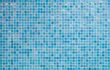 Blue Tile Wall Background