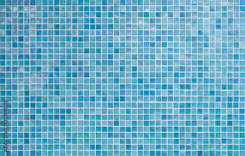 Canvastavla blue tile wall background