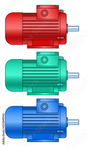 Electric motor set Canvas Print