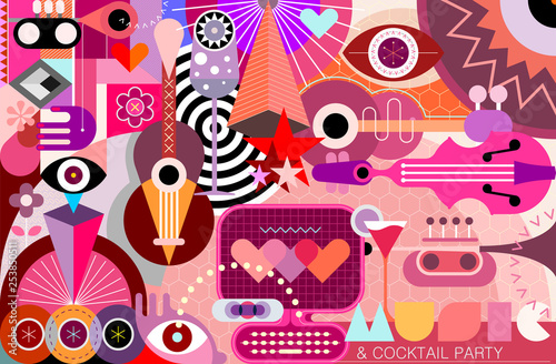 In de dag Abstractie Art Abstract Art Design vector illustration.