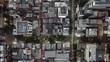 City grid birdseye view traffic