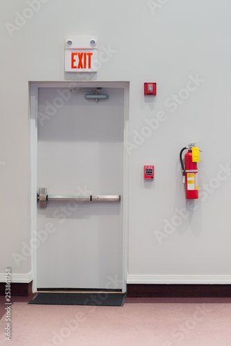 Slika na platnu Emergency or Fire Exit