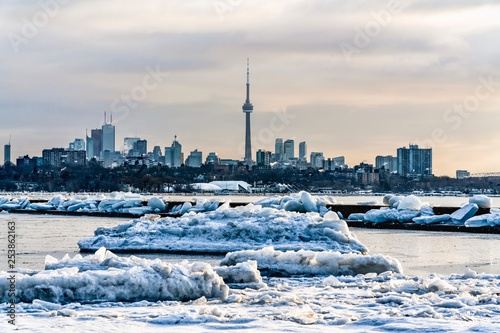 A view of Toronto during wintertime Wallpaper Mural