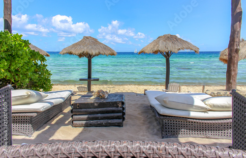 Fotografie, Obraz  Relaxing place at the Caribbean