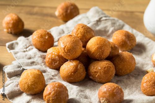 Canvastavla  Homemade Glazed Donut Holes