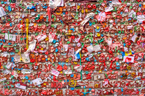 Poster Graffiti The Gum Wall in Seattle