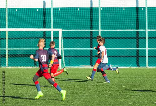 Fotografie, Tablou  Football training soccer for kids