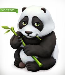 Postać z kreskówki Miś Panda. Zabawne zwierzę, 3d wektor ikona