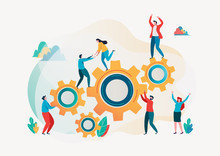 Team Building And Business Peoples Success Together Teamwork Concept