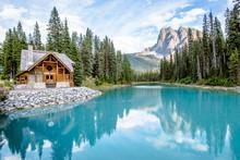 Cabin At Emerald Lake In Canada