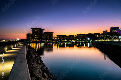 Canvas Print Sunset Waterfront, Darwin, NT, Australia