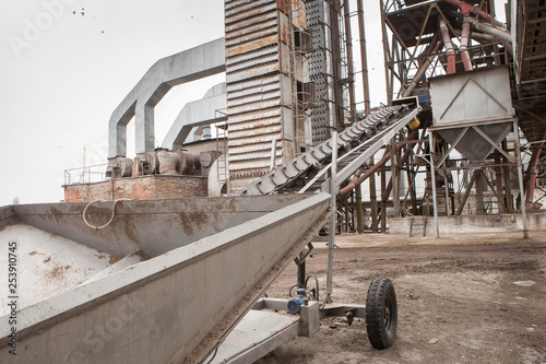 Grain conveyor at the elevator - Buy this stock photo and explore