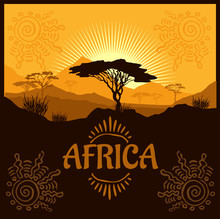 Africa - Ethnic Poster. Illustration.