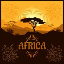 Africa - Ethnic Poster. Illust...