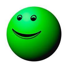 Green Smiley Ball Isolated On ...
