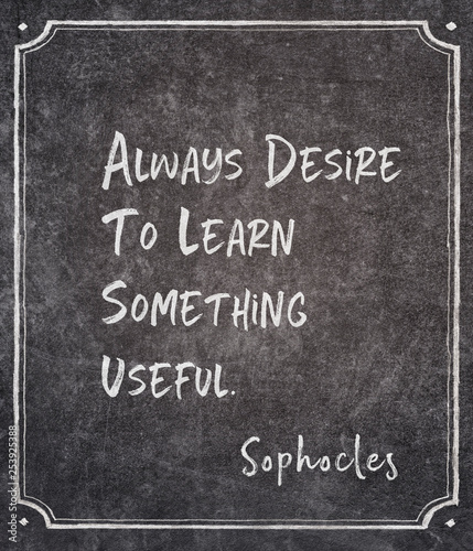 Fotografie, Obraz  desire to learn Sophocles quote