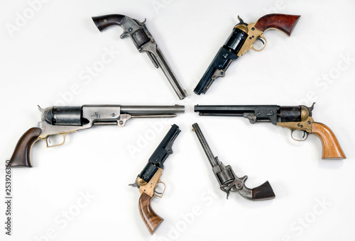 Western Pistols of the Old West. Tapéta, Fotótapéta