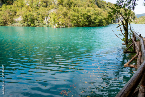 Canvas Prints Green coral Plitvice Lakes National Park in Croatia
