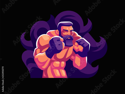 Photo A male fighter of mixed martial arts.