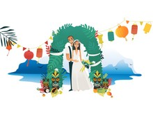 Marriage Ceremony On Hawaii Co...