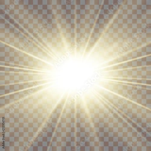 Vászonkép Sun rays