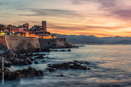 Antibes old town on the French Riviera at sunrise Canvas Print