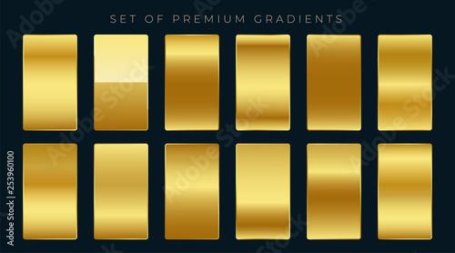 Leinwand Poster premium set of golden gradients